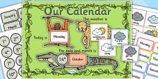 Jungle Themed Display Calendar