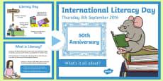 International Literacy Day 2016 PowerPoint