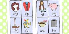 CVC Word Cards I