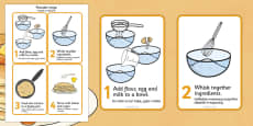 Pancake Recipe Sheet Polish Translation