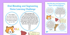 Phase 1 Aspect 7: Oral Blending and Segmenting Home Learning Challenges Nursery FS1