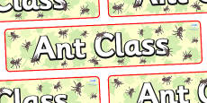Ant Themed Classroom Display Banner