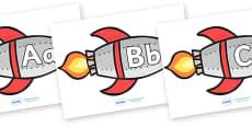 A-Z Alphabet on Rockets