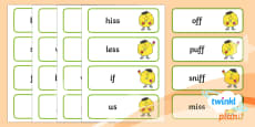 PlanIt English Additional Resources Year 1 Term 1A Spelling Word Cards