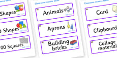 Oyster Themed Editable Classroom Resource Labels