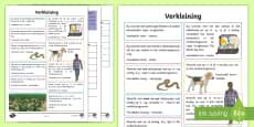 Afrikaans Taal Reëls Verkleining Notas