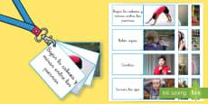 Tarjetas informativas: Tarjetas para calmarse