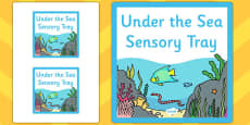 Under the Sea Themed Sensory Deep Tray Label