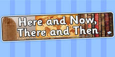 Here and Now There and Then Photo Display Banner
