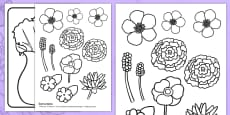 Mother's Day Flower Bouquet Colouring Activity