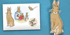 The Tale of Peter Rabbit Stick Puppets