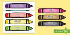 * NEW * Colour Words on Crayons English/Portuguese
