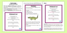 Figurative Language Activity and Reference Sheet Onomatopoeia