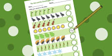 The Ant and the Grasshopper Counting Sheet