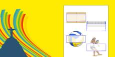 Rio 2016 Olympics Beach Volleyball Self-Registration