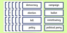 Scottish Elections 2016 Democracy Key Words
