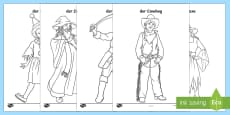 Carnival Colouring Pages