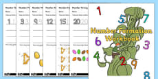 Jack And The Beanstalk Number Formation Workbook