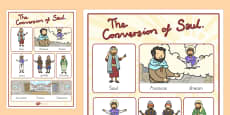 The Conversion of Saul Vocabulary Poster