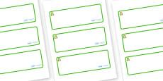 Frog Themed Editable Drawer-Peg-Name Labels (Blank)