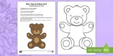 Mother's and Father's Day Bear Hug Greeting Cards English/Portuguese
