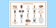Ancient Greece Word Mat