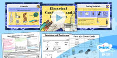 PlanIt - Science Year 4 - Electricity Lesson 4: Conductors and Insulators Lesson Pack