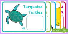 Editable Coloured Animal Reading Group Display Labels