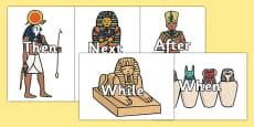 Ancient Egyptian Themed Sentence Openers