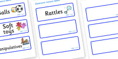 Raindrop Themed Editable Additional Resource Labels