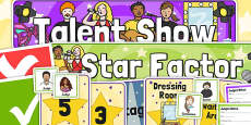 Talent Show Audition Role Play Pack
