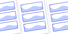 Shark Themed Editable Drawer-Peg-Name Labels (Colourful)