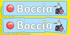 The Paralympics Boccia Display Banner