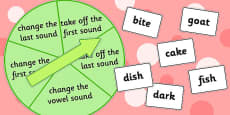 Phoneme Manipulation Spinner Game