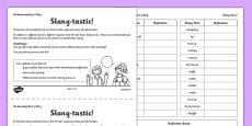 Slang-Tastic Activity Sheet