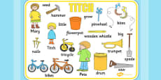 Word Mat to Support Teaching on Titch