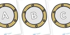 A-Z Alphabet on Portholes