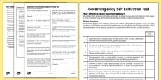 Self-Evaluation Document for Governing Body
