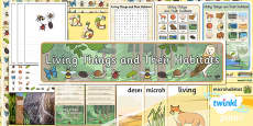 PlanIt - Science Year 2 - Living Things and Their Habitats Unit Additional Resources