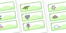 Elm Tree Themed Editable Drawer-Peg-Name Labels