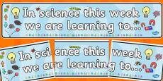 In Science this Week Working Wall Banner