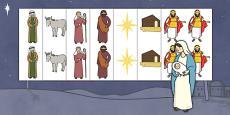 Christmas Nativity Images Editable