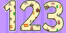 Elizabeth I Themed Display Numbers