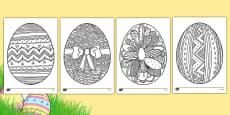 Easter Egg Mindfulness Colouring Sheets