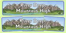 River Deep, Mountain High Display Banner