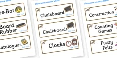 Buzzard Themed Editable Additional Classroom Resource Labels