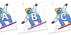 A-Z Alphabet on Snowboarding