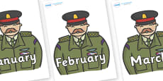 Months of the Year on Generals