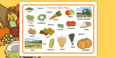 Harvest Word Mats