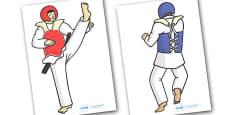 The Olympics Editable Images Taekwondo